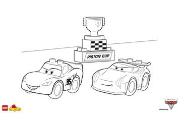 Lego Duplo Cars 3 Lightning Mcqueen Coloring Page Duplo Lego