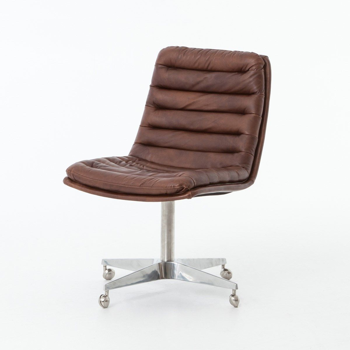 Brilliant Malibu Distressed Whiskey Leather Office Desk Chair Home Cjindustries Chair Design For Home Cjindustriesco