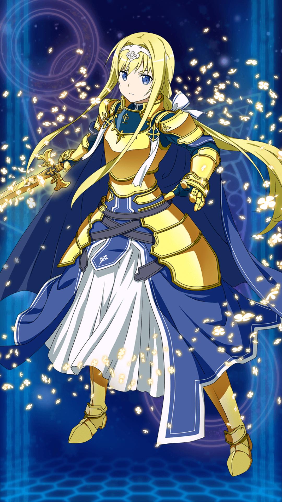 Alice Caballero De La Integridad Personaje Que Pertenece A La Serie De Sao Alicization Sword Art Online Sword Art Anime