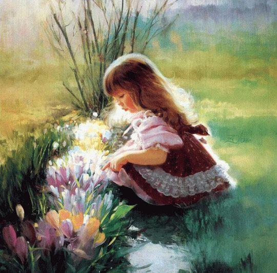 Cute paintings of children   Pinturas bonitas, Produção de arte, Pintor