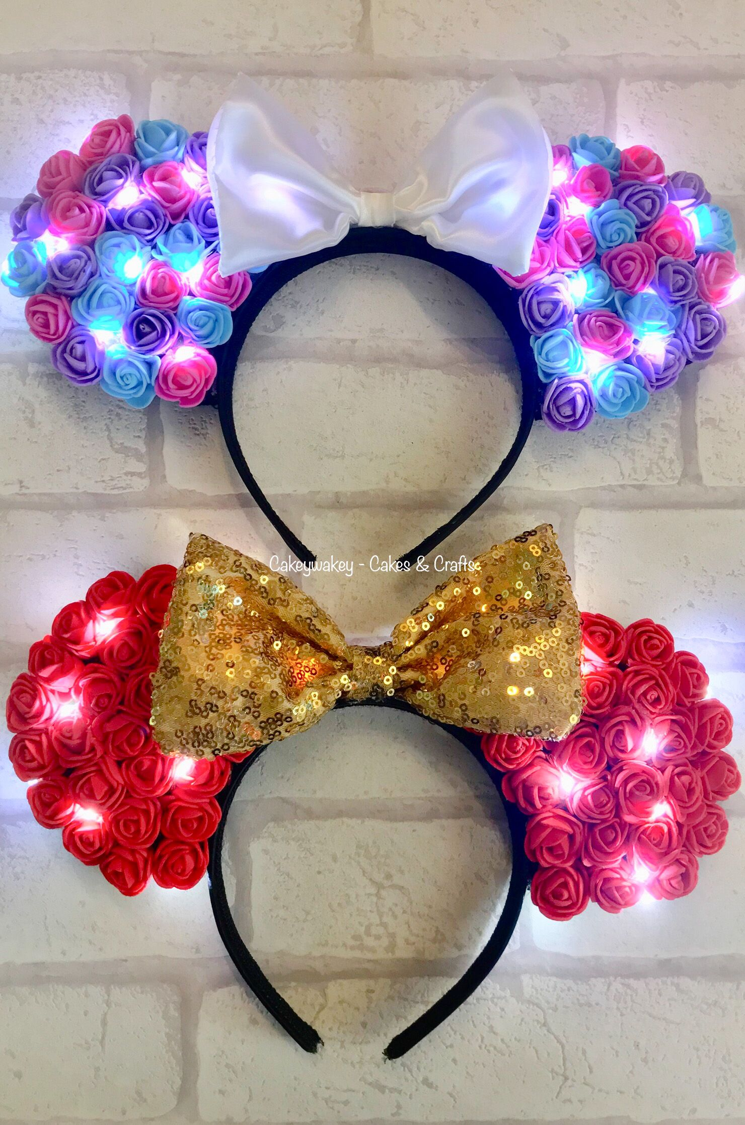 My First Order Of Two Pairs Of Floral Light Up Minnie Mouse Ears