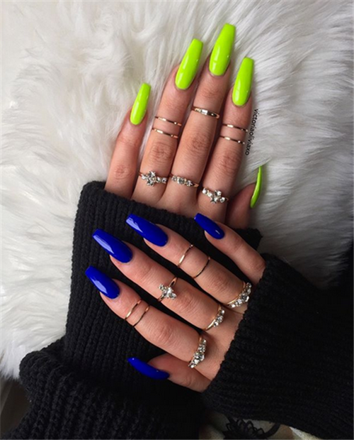 40 Simple Acrylic Coffin Nails Designs Ideas For Your 2019 Nail Art Connect Coffin Nails Designs Long Nails Pretty Acrylic Nails