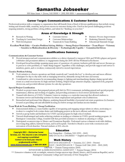targeted resume communications boards pinterest sample resume