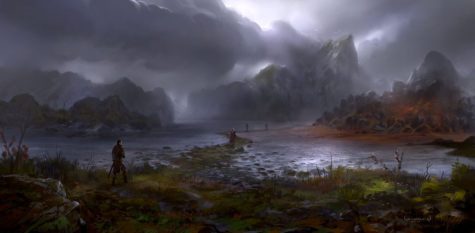 fantasy art landscapes water - Google Search ...