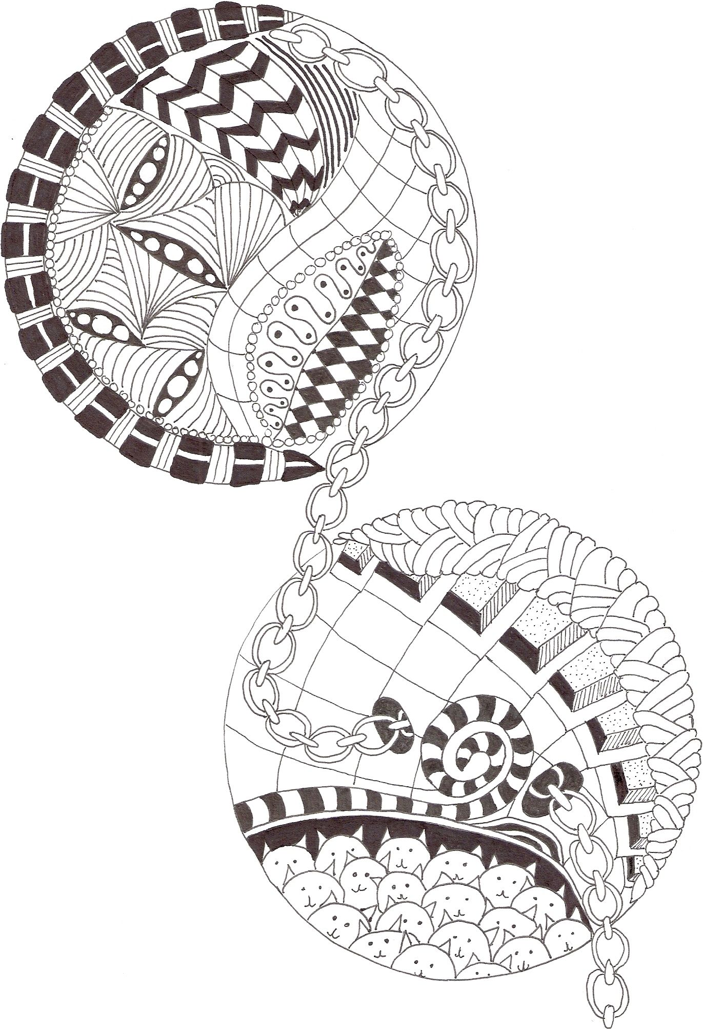zentangle made by mariska den boer 12 kleurplaten