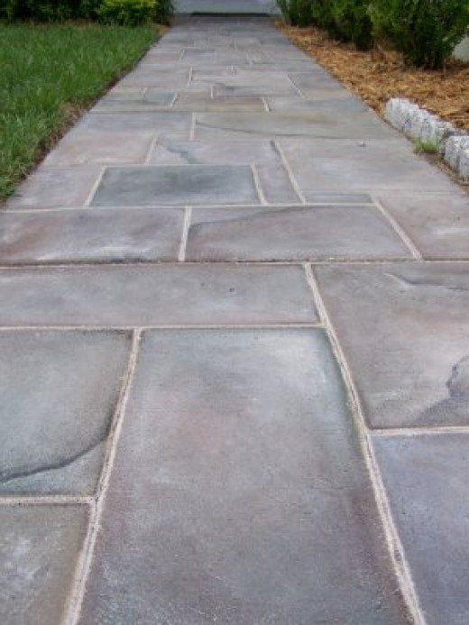 Best Painting A Faux Slate Walkway On Concrete Patio Flooring 400 x 300