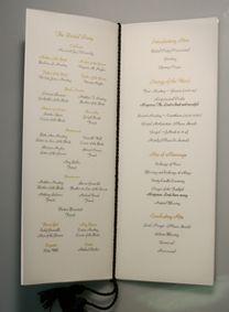 catholic wedding program layout options wedding some day