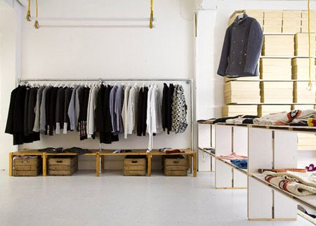 Folk Clothing Store By Iy A Studio Rack Shelf Folk And Pipes