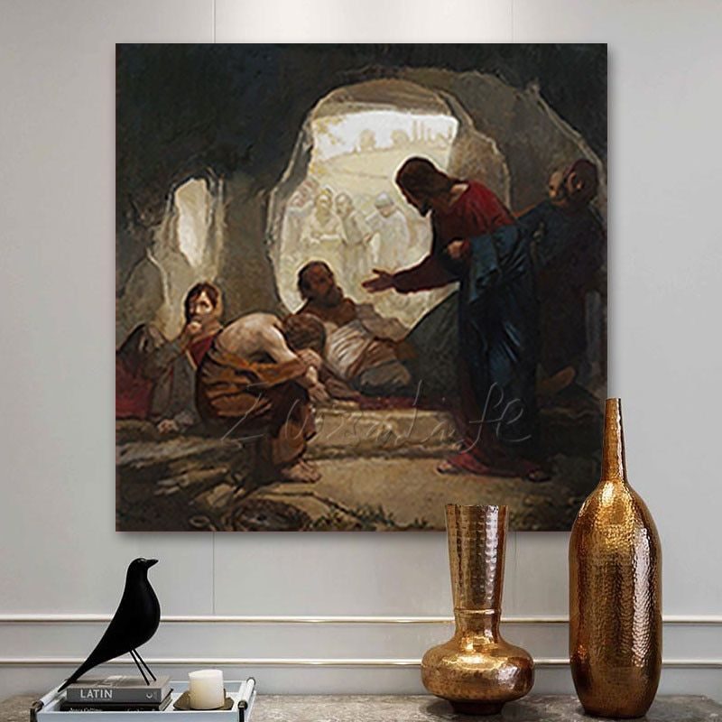 Ancient Architectural Canvas Oil Painting Poster Living Room Picture Wall Home