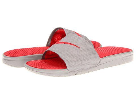 Nike Benassi Solarsoft Slide Total Orange/Sport Grey - Zappos.com Free  Shipping BOTH · Nike SandalsNike ShoesNike ...