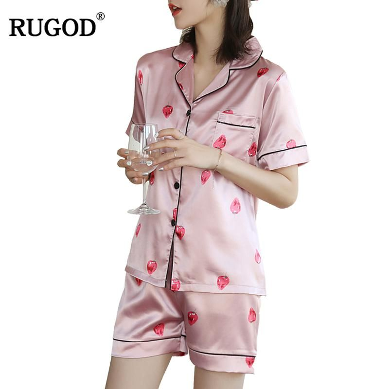 RUGOD 2018 New Arrival Casual Women Pajamas Spring Summer Hot Female 2  Piece set Lady Shirt 33770cc39
