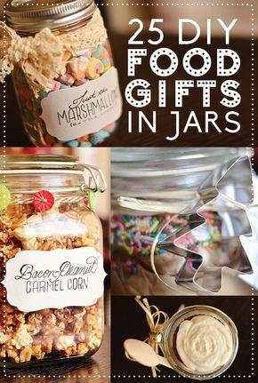 Christmas food gift ideas in a jar