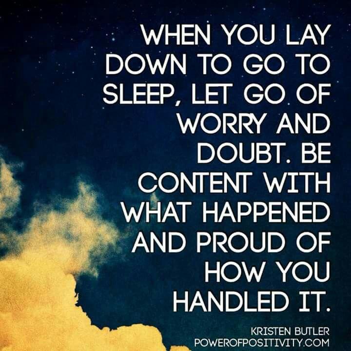 Worry free sleep.