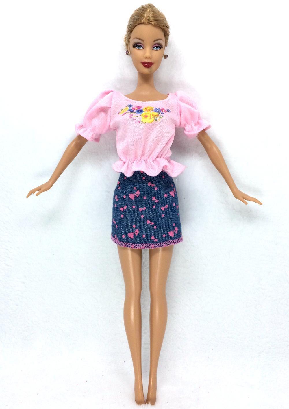 Nk 2016 più nuovo doll outfit bella partito handmade clothestop moda vestito per bambola barbie nobile migliore bambino girls'gift 018a