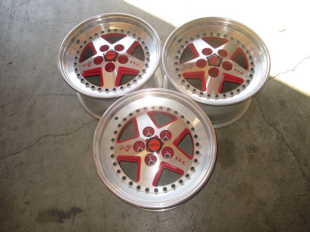 Gotti Wheel 17x10 5x120 7 B S Red Brushed New W Caps 3 Pc 1 Pitted Qty 1 Custom Wheels Wheel Red