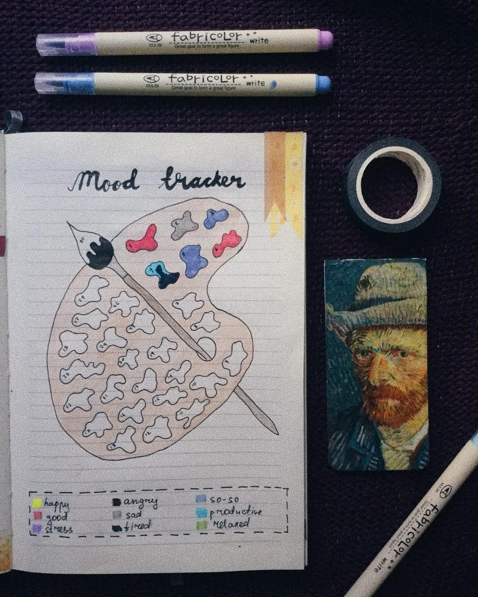 52 Mood Tracker-Ideen für das Bullet Journal Band 2 #bulletjournaloctobre
