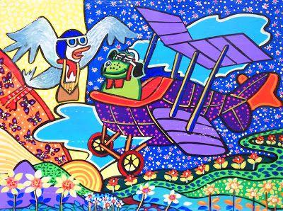 Pintura moderna al leo pinturas para cuartos de ni os - Pintura para habitaciones ...