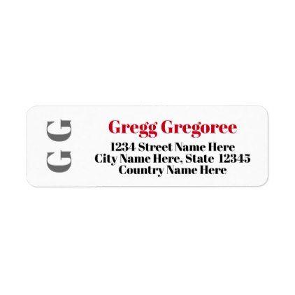 basic custom initials return address label return address