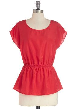 Working for the Weekdays Top in Red, #ModCloth