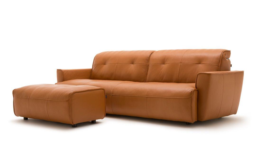h lsta sofa sofa mit r ckenfunktion leder cognac karl ocker braun made in germany. Black Bedroom Furniture Sets. Home Design Ideas
