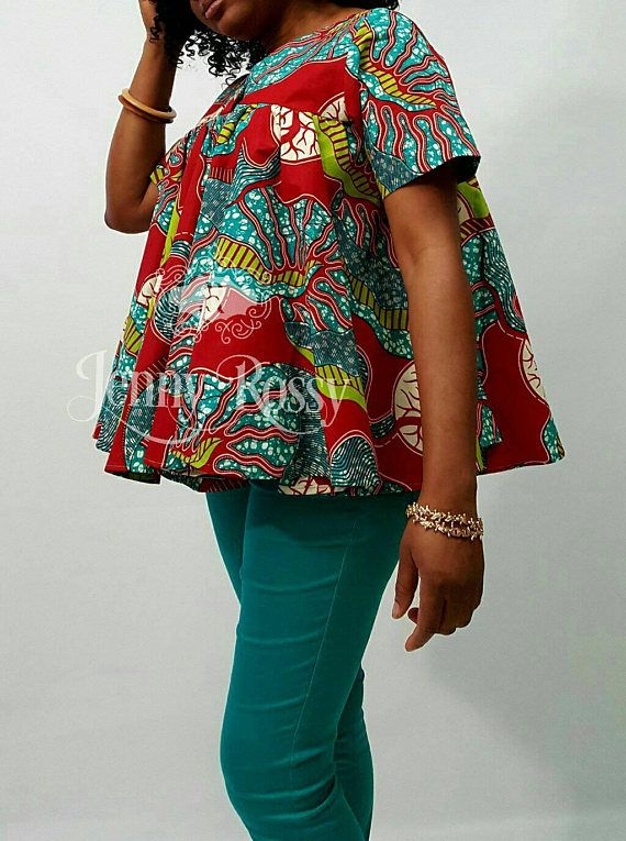 African clothing blouse Ankara Maternity Top