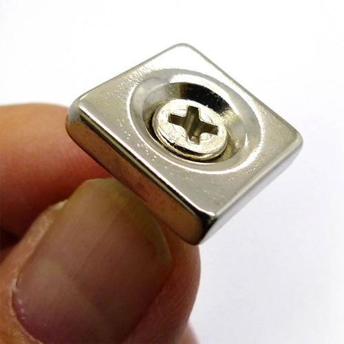 NdFeB Channel Magnet w/ Countersunk Hole - Magnets By HSMAG | Magnets,  Neodymium magnets, Phone ring