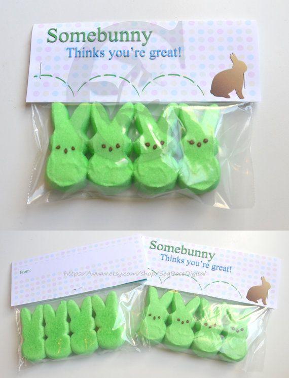 Instant Download Easter Treat Tag printable by SeaRoseDigital