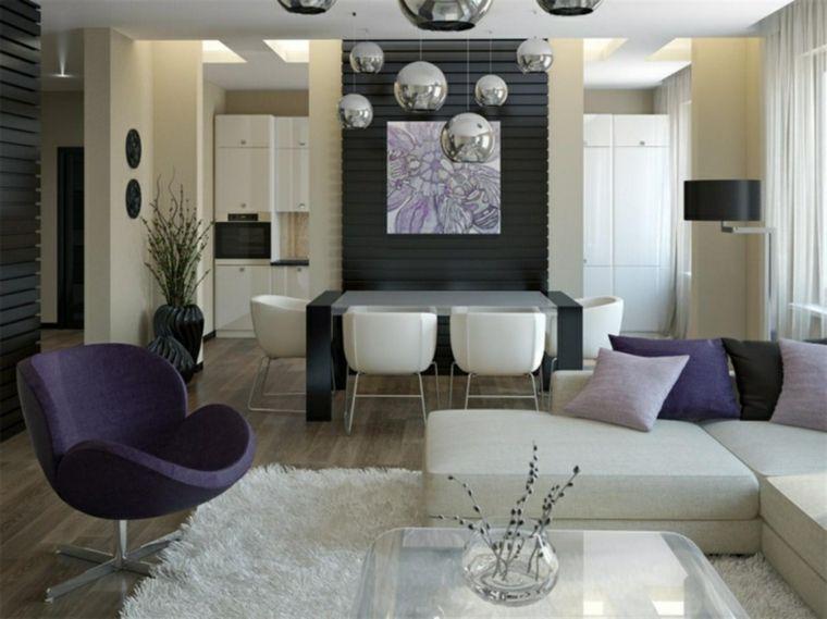 idea per arredare cucina soggiorno open space con mezza ...