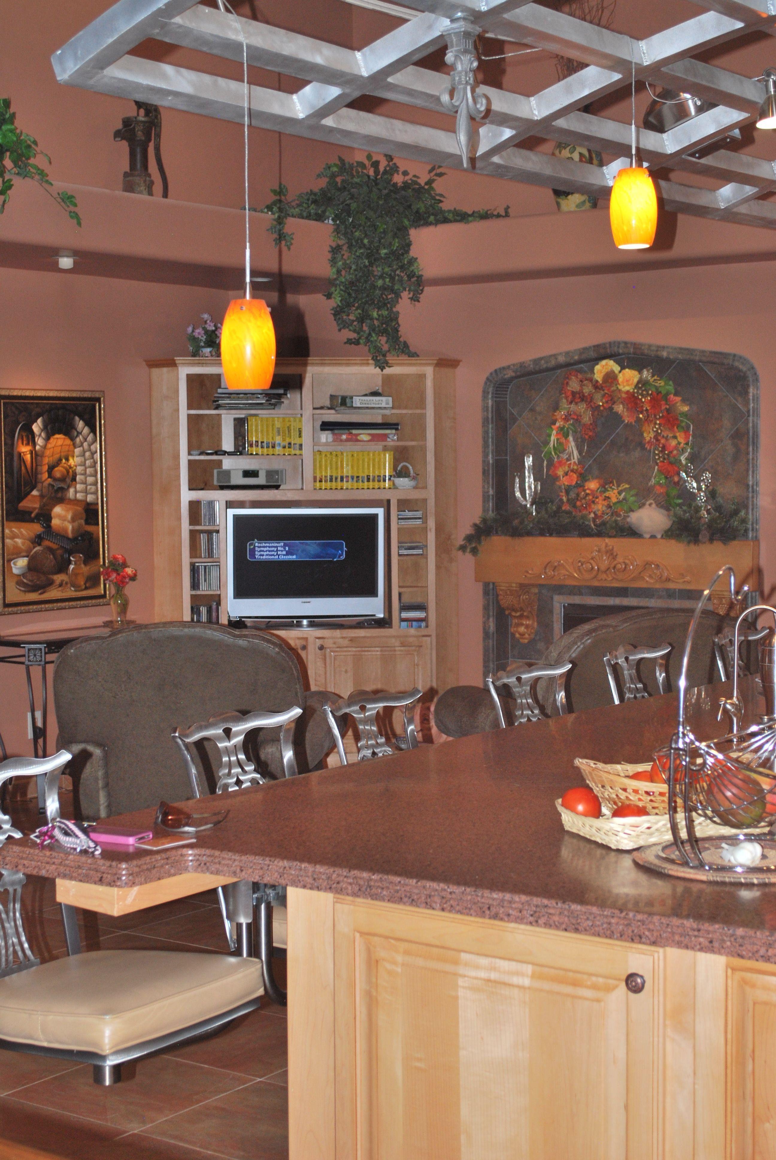 Custom kitchen with pot rack | Custom kitchen, Luxury ...