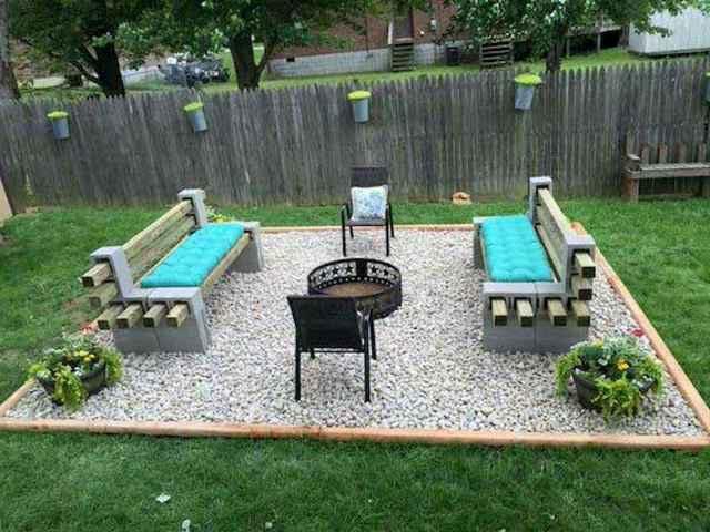 48 Amazing Backyard Fire Pits With Cozy Seating Area Ideas Backyard Seating Area Backyard Makeover Backyard Fire
