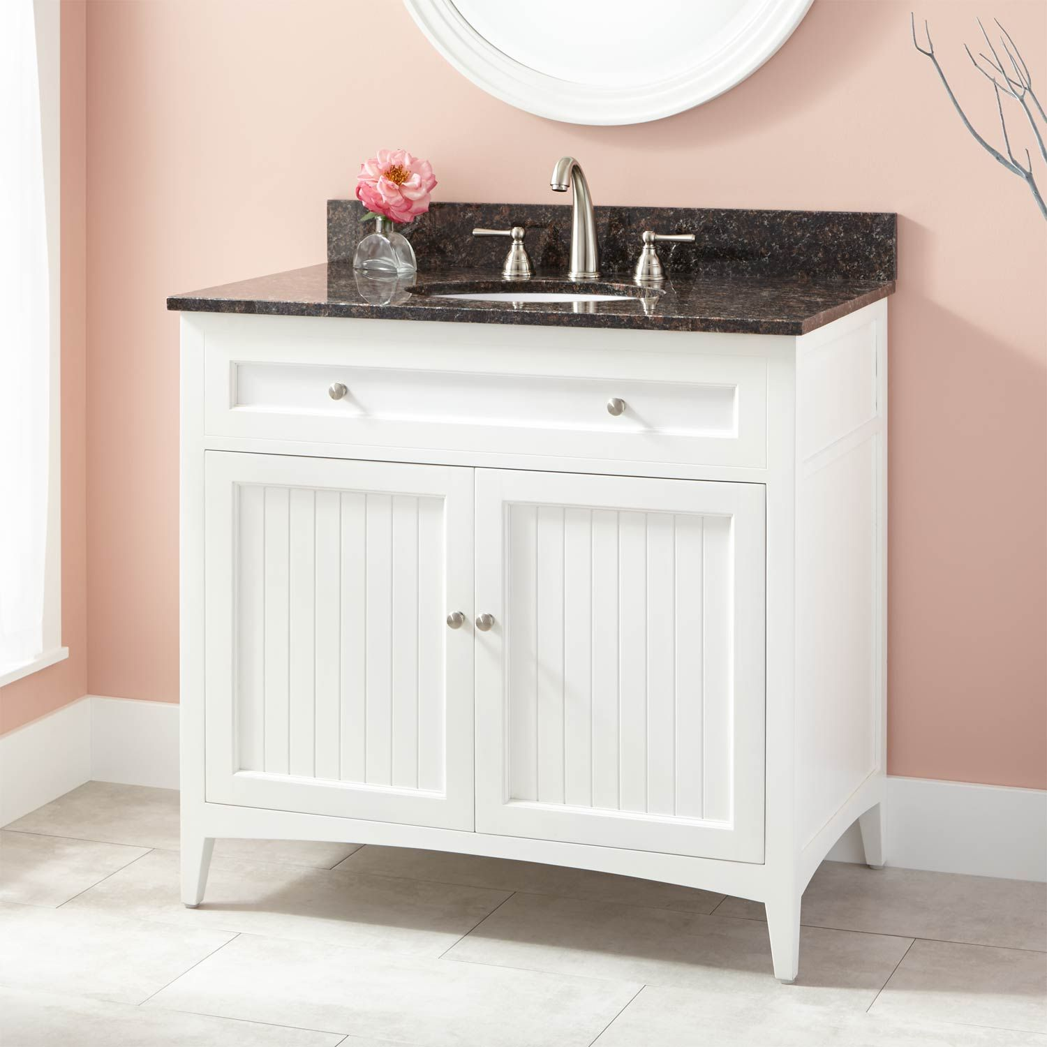 "36"" Bedford Vanity for Undermount Sink - White"