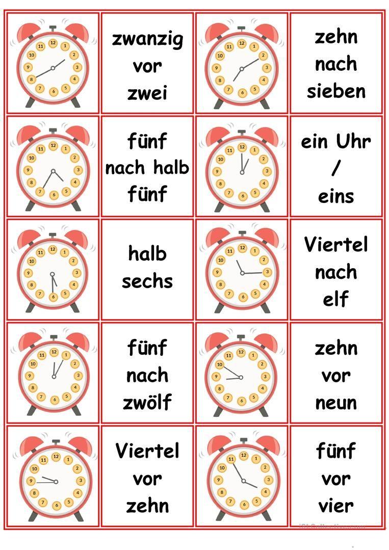 spiele im deutschunterricht memory die uhrzeiten niemiecki german language learning. Black Bedroom Furniture Sets. Home Design Ideas