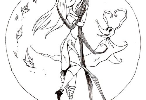 Nightmare before christmas jack and sally drawings jack for Sally nightmare before christmas coloring pages