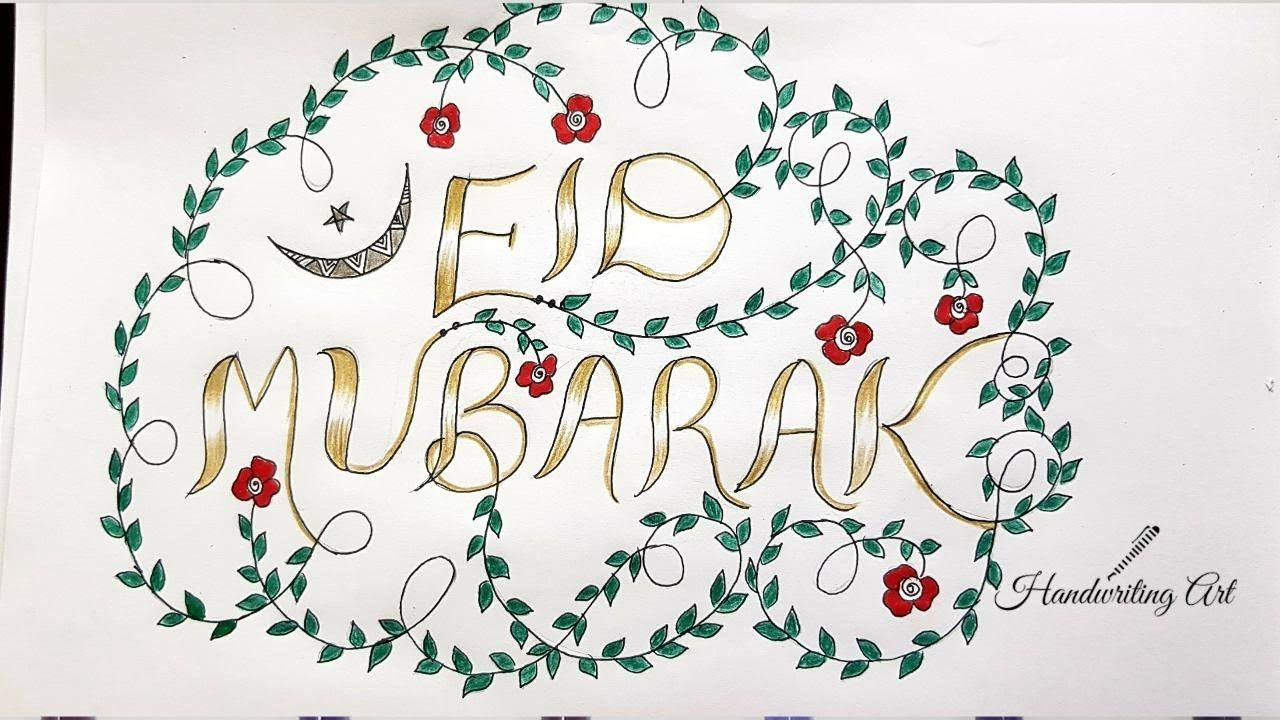 How To Write Eid Mubarak In Calligraphy Eid Mubarak In Style