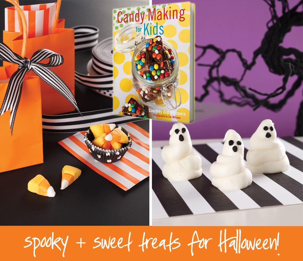Make Your Own Candy Corn + Marshmallow Ghosts! Recipes in Candy Making For Kids!