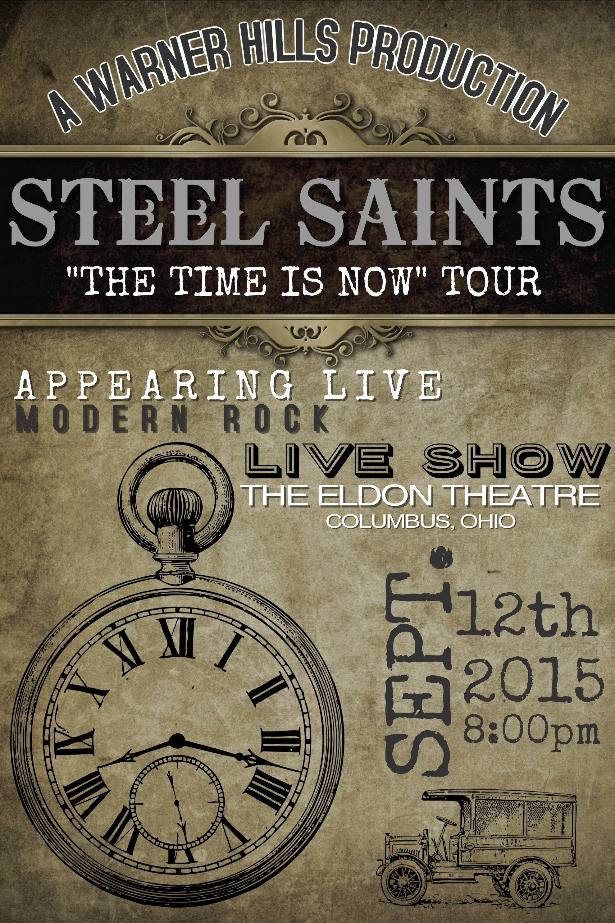 Band Poster Template - Steel Saints. Click on the image to ...