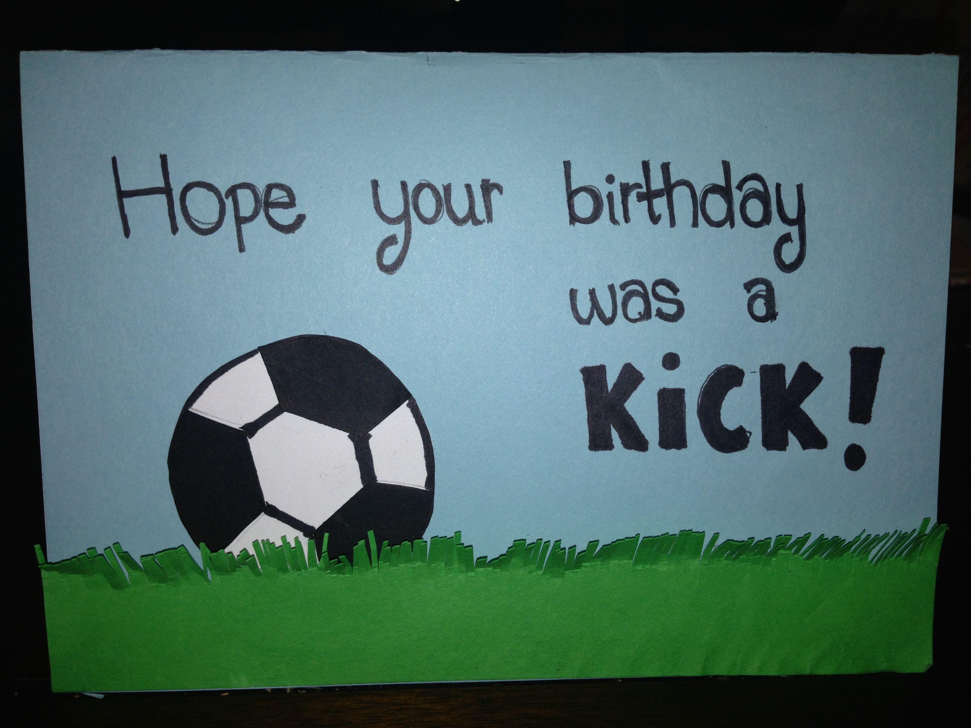 11 Year Girl Birthday Happy Card Soccer Boy