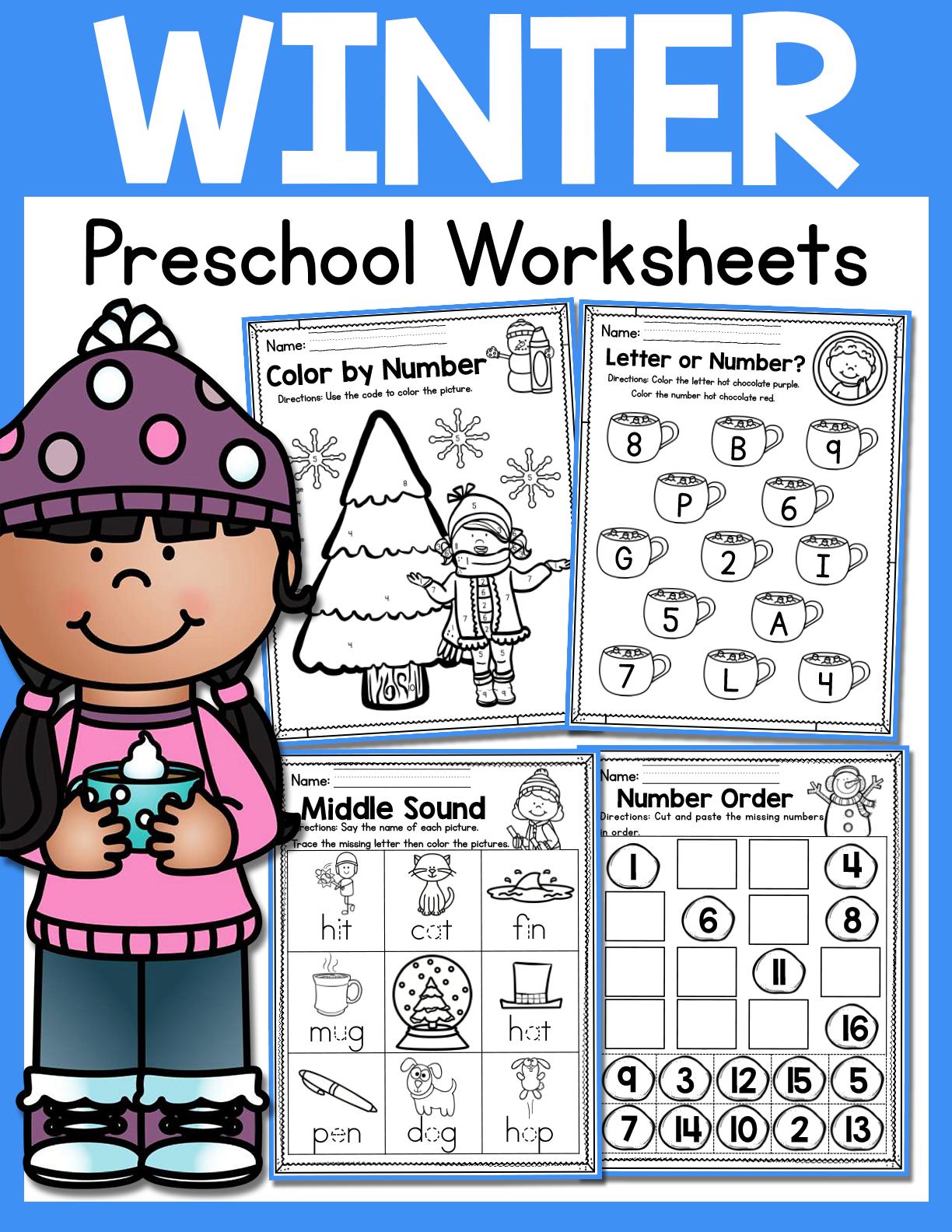 Winter Preschool Worksheets January