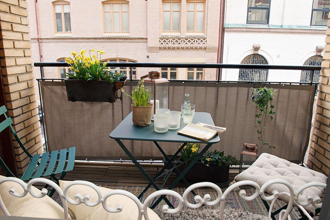 Petite terrasse fleurie balcon pinterest petite for Petite terrasse deco