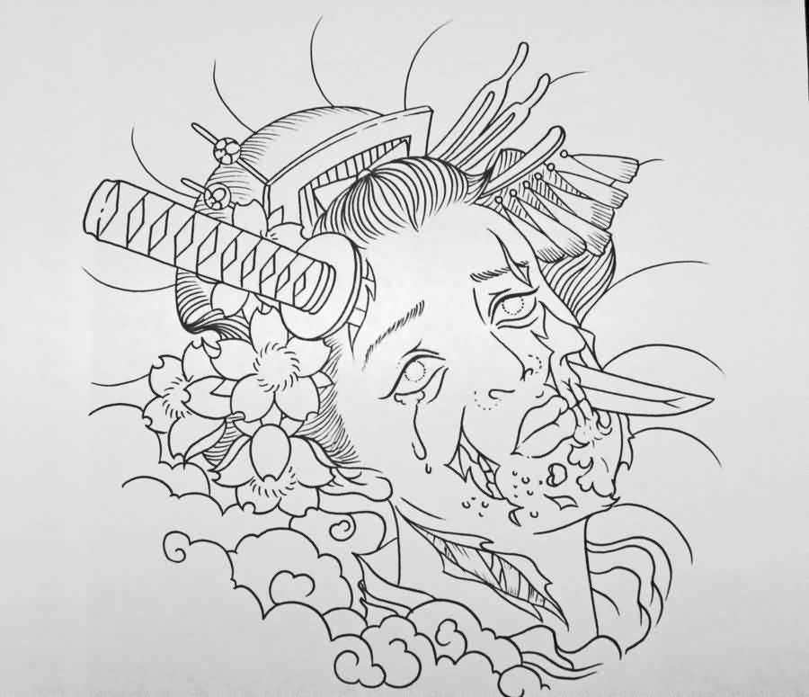comments off on geisha tattoo undead zombie geisha tattoo design beth pinterest geisha. Black Bedroom Furniture Sets. Home Design Ideas
