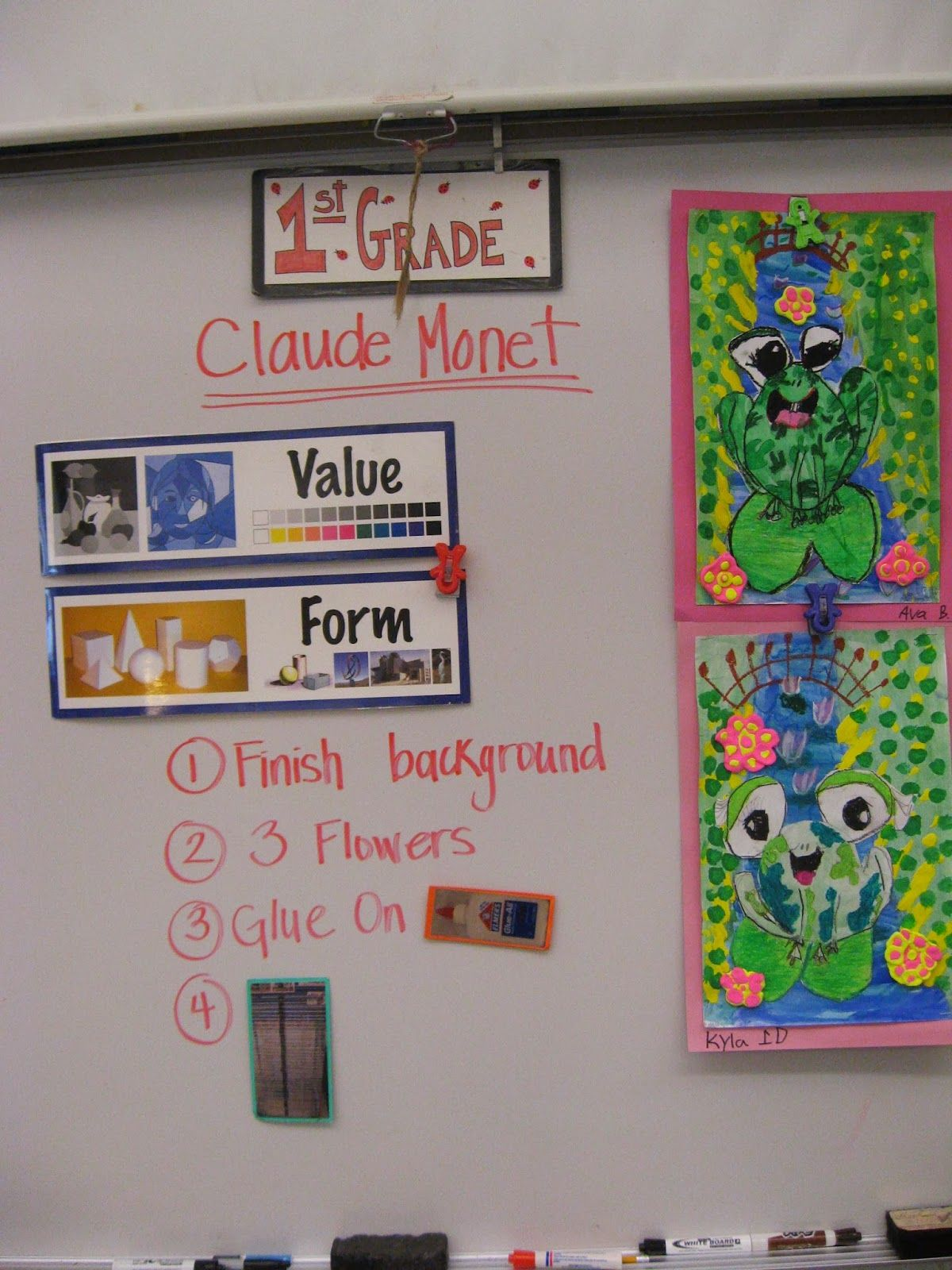 Jamestown Elementary Art Blog 1st Grade Claude Monet Frogs In Ponds Art Ed