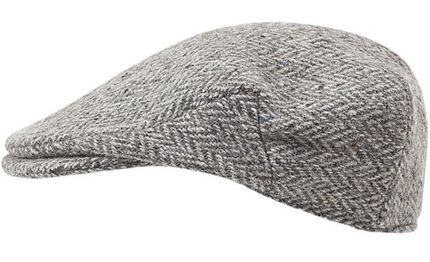 Handmade Handwoven Tweed - Irish Flat Cap - Silver Grey Herringbone - made  by Hanna Hats