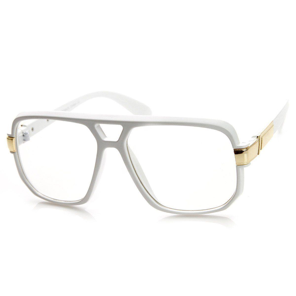 f857985f1e71 Classic Square Frame Plastic Clear Lens Aviator Glasses in 2019 ...