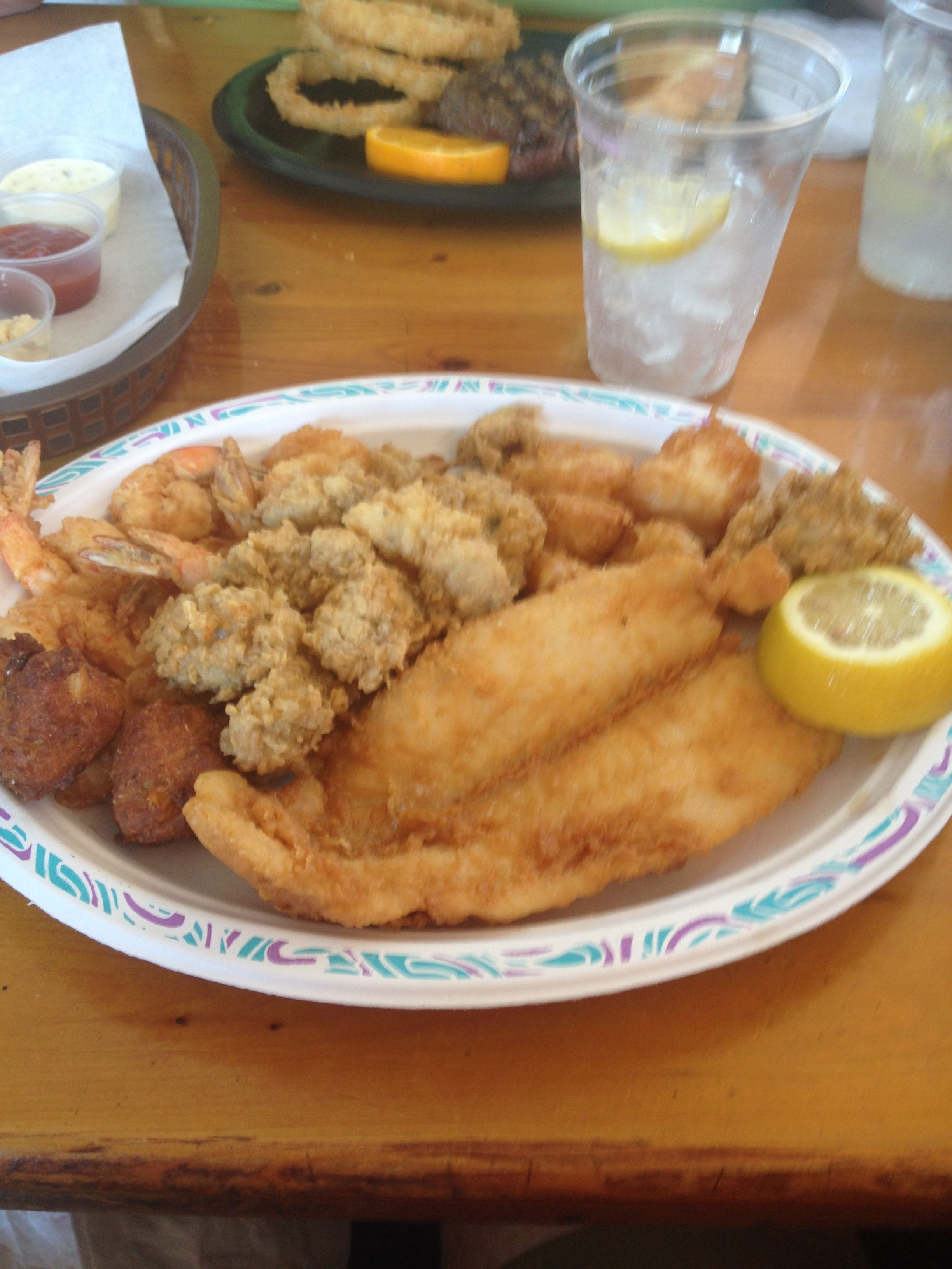 Mud Cat Charlie S Brunwick Darien Ga Fried Seafood Platter