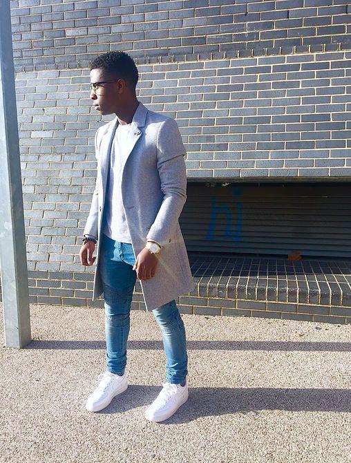 Mens fashion blog, Long grey coat