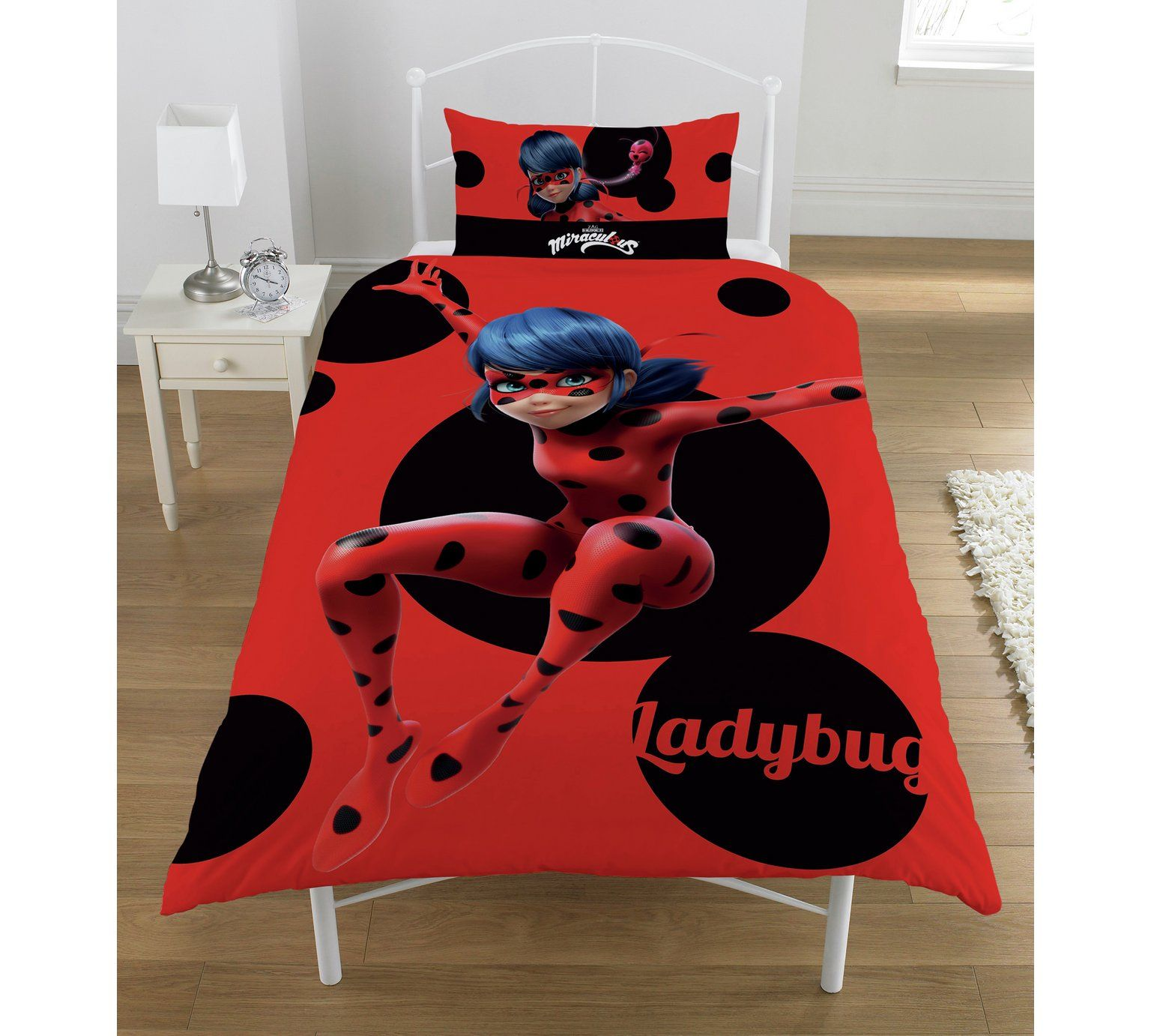 Buy Miraculous Lady Bug Bedding Set Single at Argos.co