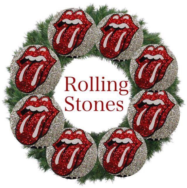 Rock N Roll Christmas Tree: Rolling Stones Logo, Rolling Stones