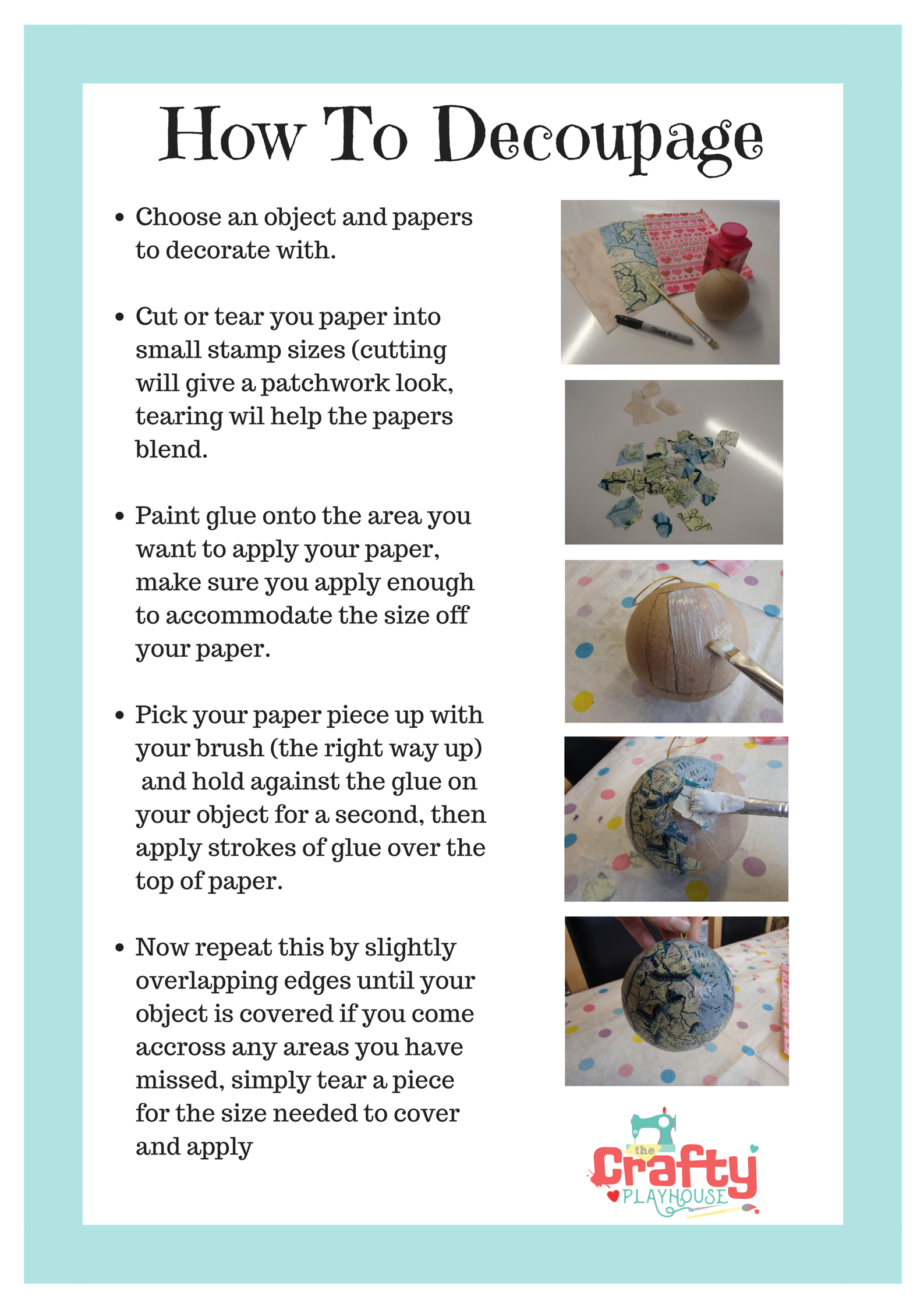 How to Decoupage/Decopatch for beginners \u2026