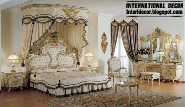 royal bedrooms with classic canopy beds 2015 interior design luxury bedroom furniture 2015 - Luxurious Bed Designs