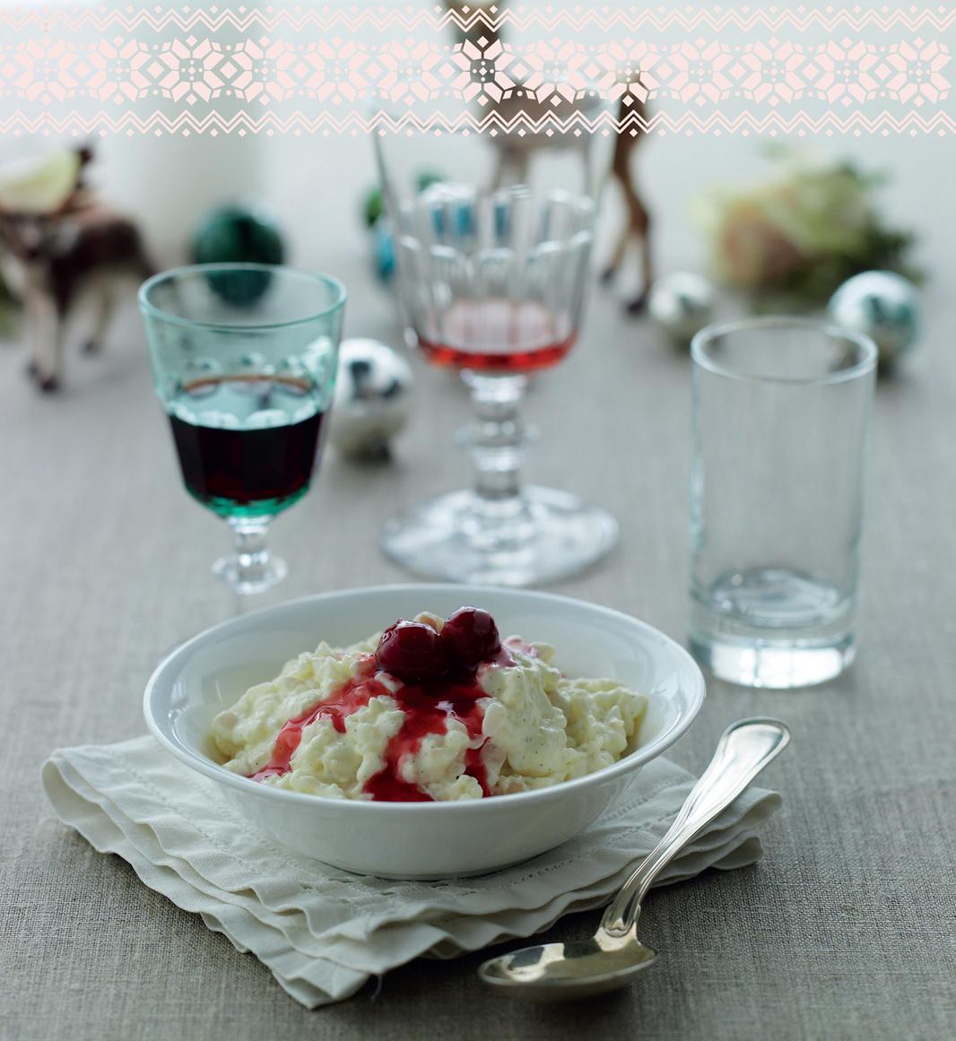 Rice pudding with hot cherry sauce | Recipe | Cherry sauce ...